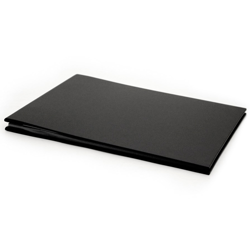 Medium Black Cloth Cover, Black Page Album - 23x32cm - 20 pages (40 sides)