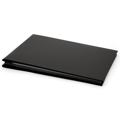 Small Black Cloth Cover, Black Page Album - 17x24cm - 20 pages (40 sides)