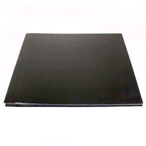 Large Black Leather Cover, Black Page Album - 30x36.5cm - 25 pages (50 sides)