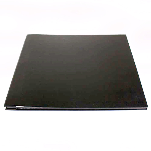 Large Black Leather Cover, Black Page Album - 30x36.5cm - 25 pages (50 sides)