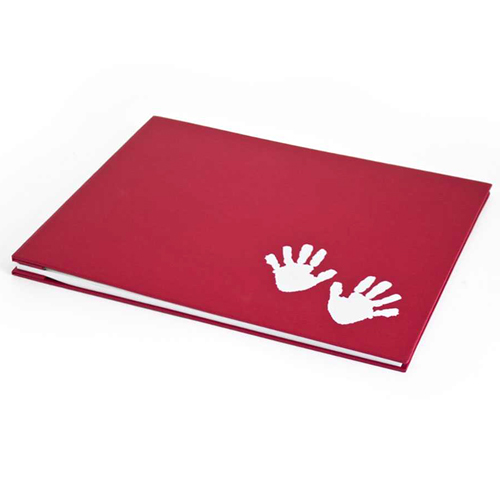 Medium Baby Hand Print, White Page Album - 23x32cm - 20 pages (40 sides)