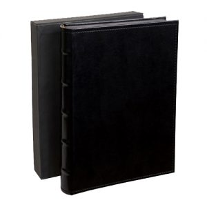 Regal Drymount Album -  16 x 24cm size - BLACK cover / BLACK pages (Available in landscape or portrait format)