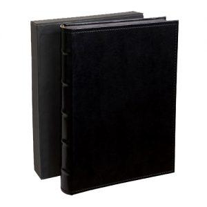 Regal Drymount Album -  16 x 24cm size - BLACK cover / BLACK pages (Available in landscape or portrait format)