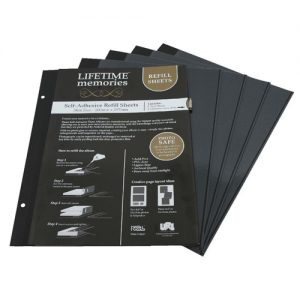 NCL SELF ADHESIVE SLIM (A4) SIZE REFILLS - 200 x 297mm - 5 pages (10 sides)
