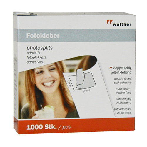 Walther - Self-adhesive photo mounts - Pack of 1000