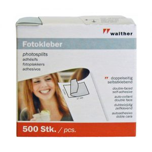 Walther - Self-adhesive photo mounts - Pack of 500