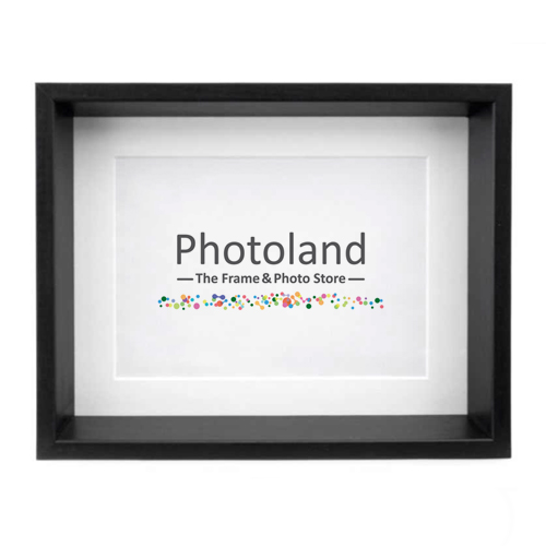 "Shadow box bevelled frames - matted 5x7"" (10x15cm) size - black or white"