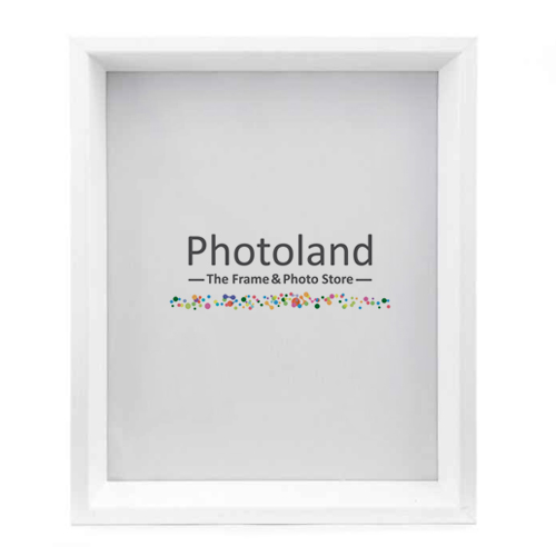 "Shadow box bevelled frames - 8x10"" (20x25cm) size - black or white"