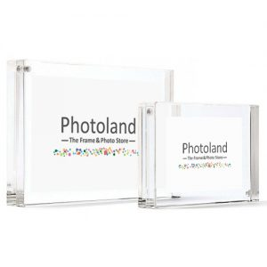 "Clear acrylic frame - 4x6"" (10x15cm) - double sided - bordered"