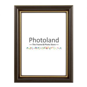 Black wooden frame, with gold stripe - A4 (29.7x21cm) size - 1.7cm wide