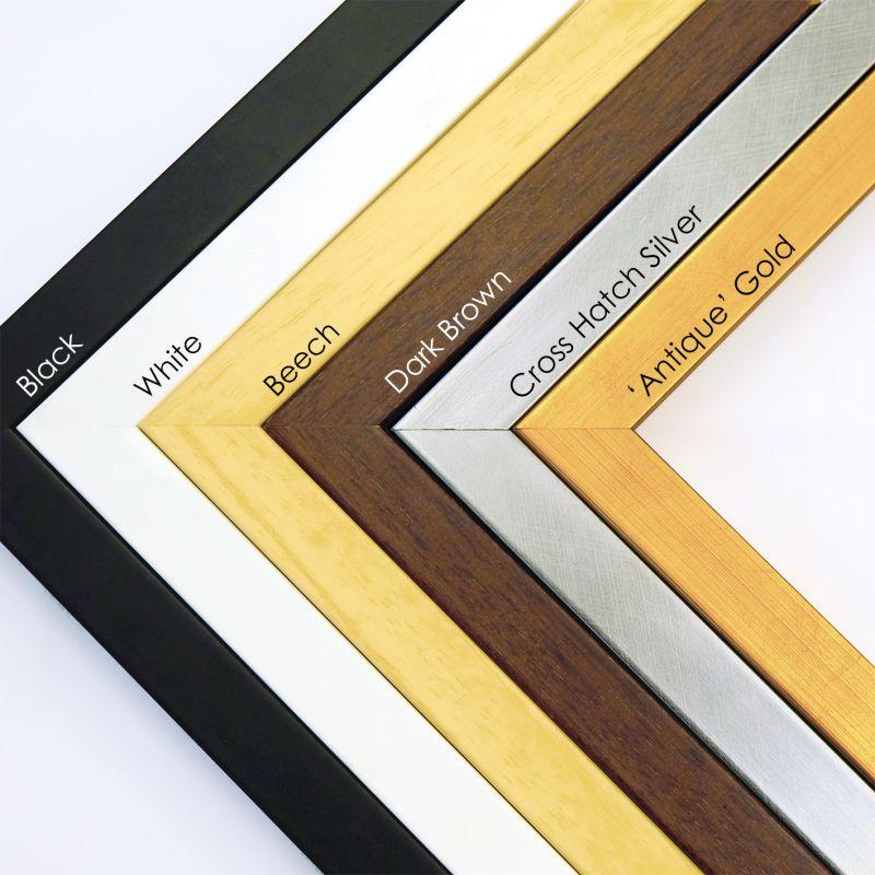 "Wooden frames - 4x6"" (10x15cm) size - 2cm wide (6 colours available)"