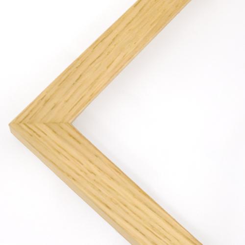 "Matted oak wooden frame - 4x6"" (10x15cm) - 2cm wide"