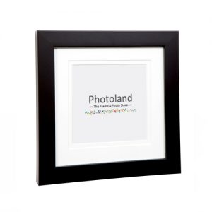 "Matted square wooden frames - 4x4"" (10x10cm) - 2cm wide (6 colours available)"