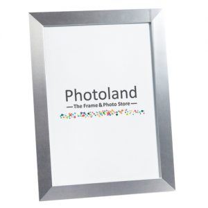 Silver metal polished aluminium frame  - A4 (29.7 x 21cm) size - 2.6cm wide