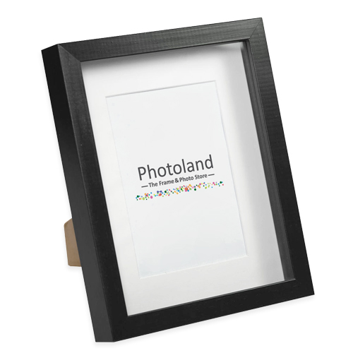 "Box wooden frames - matted 4x6"" (10x15cm) size - black or white"