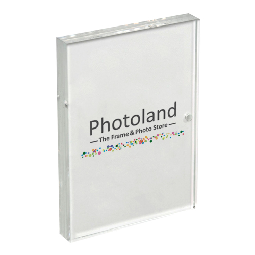 "Clear acrylic frame - 2.5x3.5"" (6x9cm) - double sided - borderless"