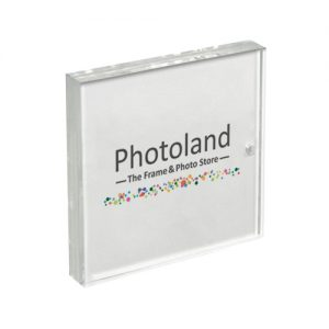 "Clear acrylic frame - 5x5"" (13x13cm) - double sided - borderless"