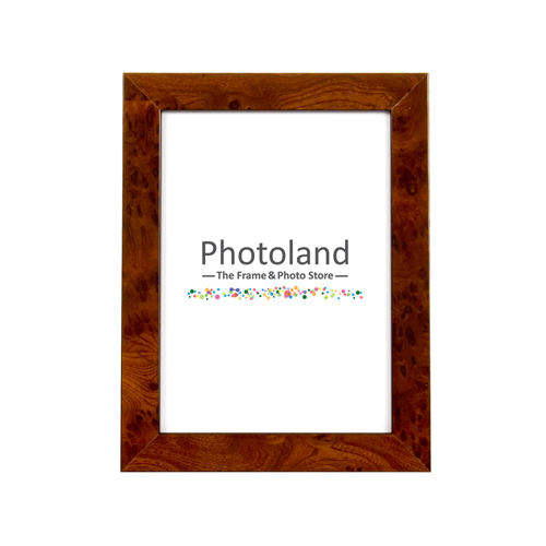 "Elm veneer wooden frame - 4x6"" (10x15cm) size - 2cm wide"