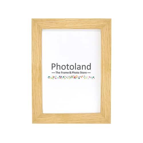 """Oak wooden frame - 4x6"""" (10x15cm) size - 2cm wide"""