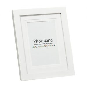 "Matted wooden frames - 4x6"" (10x15cm) - 2cm wide (6 colours available)"